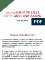 Management of Sales Territories and Quotas