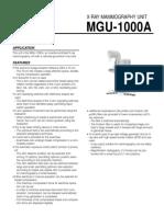 System Data (MGU-1000A)