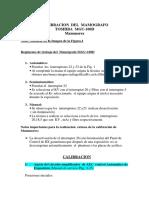 Calibracion Del Mamografo Mgu-100d