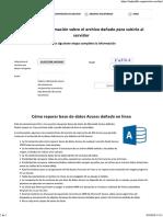 Reparar Archivos Mdb Danados Online