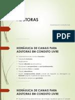 Dimensionamento Condutos Livres - ABASTECIMENTO