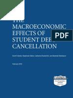 Los Efectos Macroeconomicos de La Cancelacion de La Deuda de Estudiantes