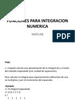 08 Funciones Para Calculo Numerico - Integracion