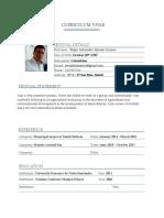 Curriculum vitae - gestión de mercados