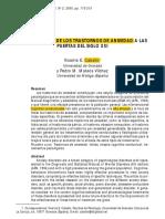 TRATAMIENTO DE TRASTORNOS DE LA ANSIEDAD S.XXI