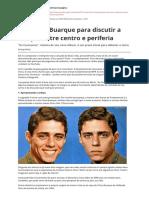 Plano de Aula - Discussão Sobre Centro e Periferia (CHICO BUARQUE)