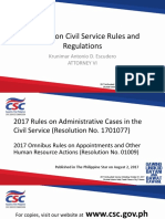 Updates on Civil Service Rules Regulations Atty KA Escudero III