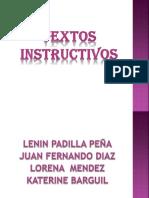 Diapositivas textos instructivos