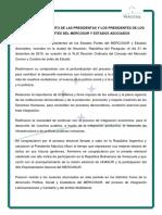 Comunicado Mercosur Estados Partes y Asociados (21dic15b)