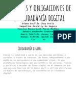 Derechos y Obligaciones de La Ciudadanía Digital