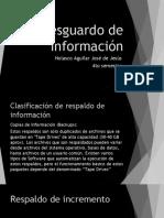 Resguardo de Información Jeje
