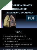 Clase 2 - Patrones de Enfermedades Pulmonares Tacar