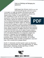 Heinrich Sannemann, Anleitung Zur Herstellung Des Lebendigen Wassers