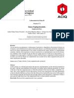Informe laboratorio de fisica II Lineas Equipotenciales; Andres Gomez, Universidad de Cartagena
