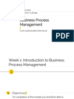 Week1 - Introduction to Business Process Management