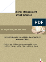 Nutritional Management of Sick Children
