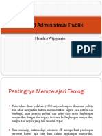 Pertemuan 7 Ekologi Administrasi Publik