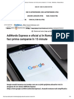 AdWords Express e Oficial Și În Romania...15 Minute - Marketing - StartupCafe