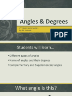 angles   degrees  1