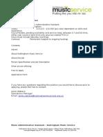 Admin Assistant Post June 2015