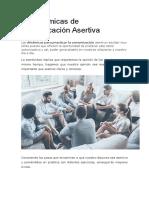 10 Dinámicas de Comunicación Asertiva
