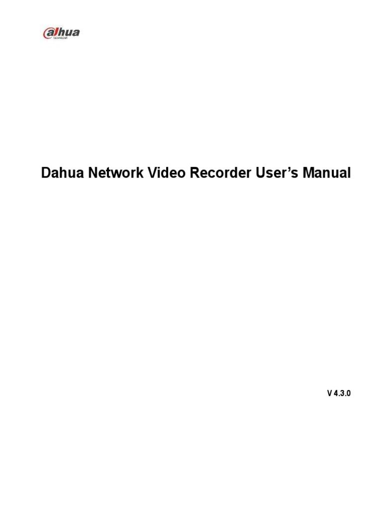 Dahua NVR | Port (Computer Networking) | Password