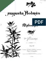 Augusta HOLMES Mélodies