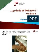 Ingeniería de Métodos I - Semana 8 - Sesión 1-Medición Del Trabajo