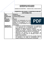 Programa Estadística Aplicada y Construcción de Instrumentos