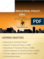 Industrial Policy of 1991