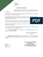 Affidavit of Loss SSS