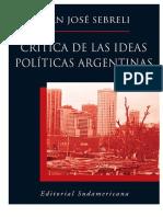 Critica de las ideas políticas argentinas