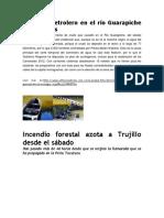 Derrame Petrolero en El Río Guarapiche de Monagas