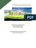 brigadoon dramaturgy packet