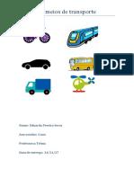 Os Meios de Transporte