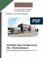 Modelo Del Informe de Practicas