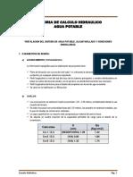 Memoria de Calculo Hidraulico SAP