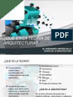 Que Es La Teoria de La Arquitectura PDF