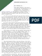 Chairman's Letter - 1985