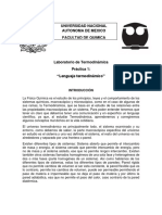 Práctica 01 - L. Termodinámico