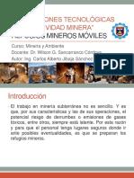 Innovaciones Tecnológicas en Minería - Refugios Mineros Móviles