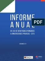 Informe Anual de Uso de Beneficios Otorgados a Universidades Privadas Vr 02