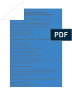 Prueba de Diagnostico Ciencias Nat. 3° alternativa