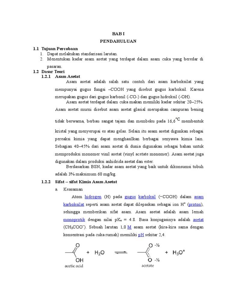 Laporan asam asetat kelompok 1 ccuart Choice Image