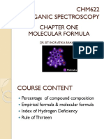 CHM622 CHAPTER1 MolecularFormula Atika