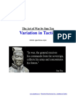 The Art of War by Sun Tzu - Variation in Tactics