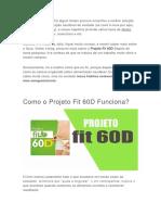 Projeto Fit 60D Funciona