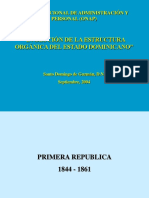 Evolucion Organizativa Del Estado Dominicano