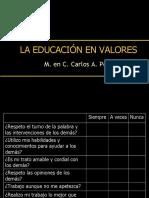 0.0 LA EDUCACION EN VALORES.ppt