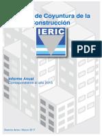 Informe de coyuntura de la construcción. Año 2015